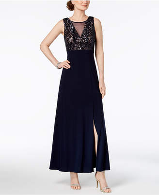 Night Way Nightway Sequined A-Line Gown, Regular & Petite