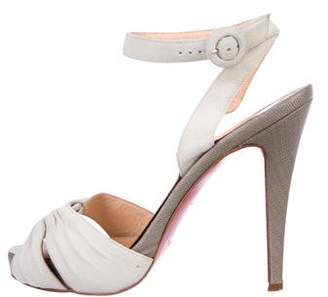 Christian Louboutin Suede Slingback Sandals