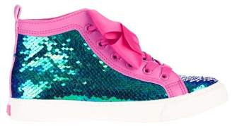 Jo-Jo Jojo Siwa Girl's Sequin High Top Sneaker With Bow