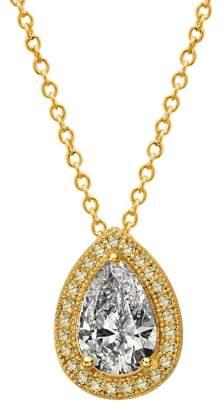 Lafonn 18K Gold Plated Sterling Silver Pave Teardrop Pendant Necklace