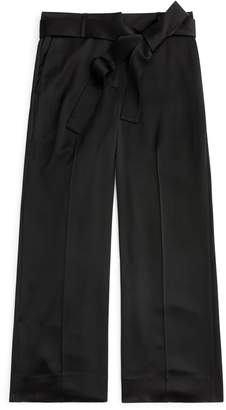 J.Crew Full Length Wide Leg Pants in Satin Crepe