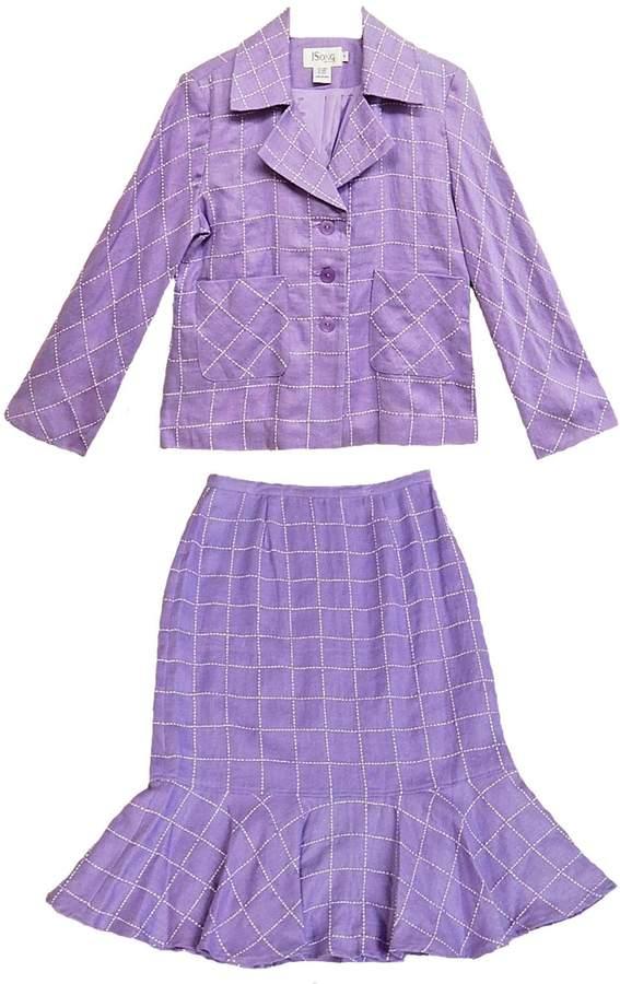 JSong Lilac Plaid Suit