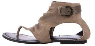 Mia Suede Thong Sandals
