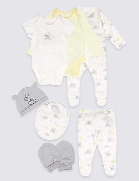 Tiny Tatty Teddy 7 Piece Unisex Pure Cotton Outfit