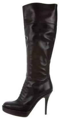 Saint Laurent Platform Knee-High Boots
