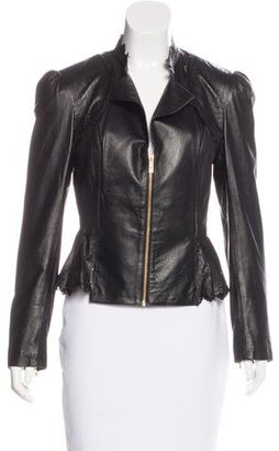 Alice by Temperley Laser Cut Leather Jacket $175 thestylecure.com