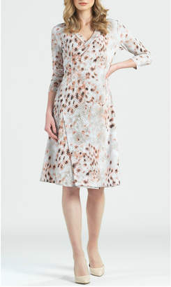 Clara Sunwoo Python print faux wrap dress