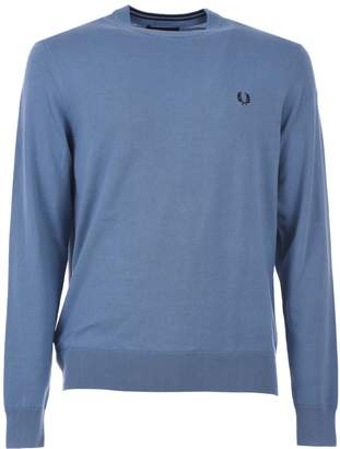 Fred Perry Light Blue Classic Cotton Jumper