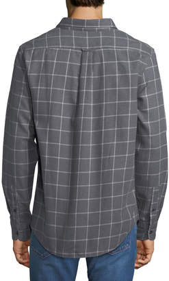 Jachs Ny Windowpane-Print Flannel Work Shirt