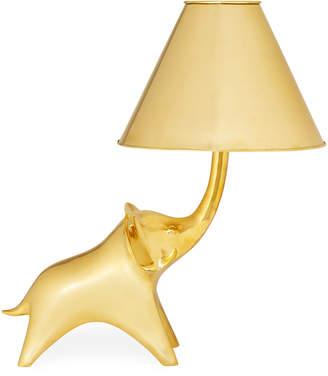 Jonathan Adler Brass Elephant Table Lamp