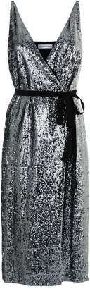 Robert Rodriguez Sequin Wrap Midi Dress