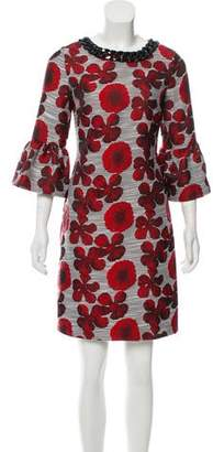 Karl Lagerfeld Floral Knee-Length Dress