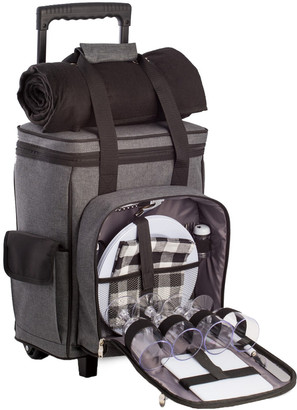 Bey-Berk 4 Person Canvas Picnic Backpack
