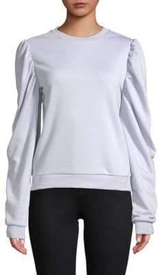 ENGLISH FACTORY Long-Sleeve Shirred Top