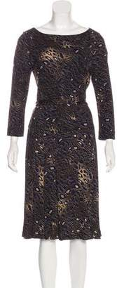 Tory Burch Leopard Print Knee-Length Dress