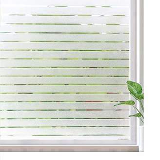 RABBITGOO Frosted Window Clings Privacy Etched Glass Window Film Window Frosting Film Non-Adhesive Window Stickers