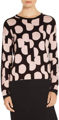 St. John Dot Intarsia Knit Sweater