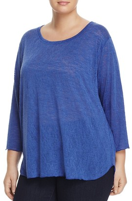 Nally & Millie Plus Three-Quarter Sleeve Tee $74 thestylecure.com