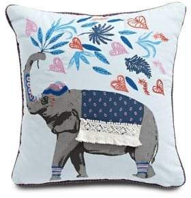 Martha Stewart Elephant Square Cotton Cushion