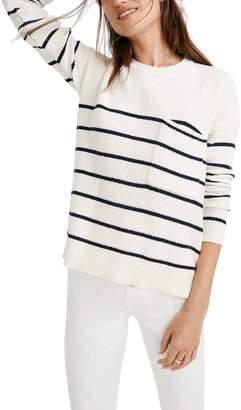 Madewell Thompson Nautical Stripe Pocket Pullover Sweater