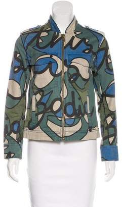 Zadig & Voltaire Printed Military Jacket