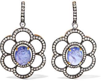 Amrapali 18-karat Gold, Tanzanite And Diamond Earrings - Silver