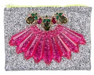 Mawi Embellished Glitter Clutch