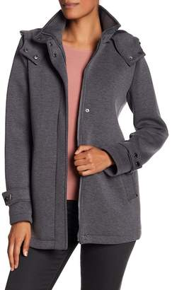 Kenneth Cole New York Funnel Neck Hooded Coat