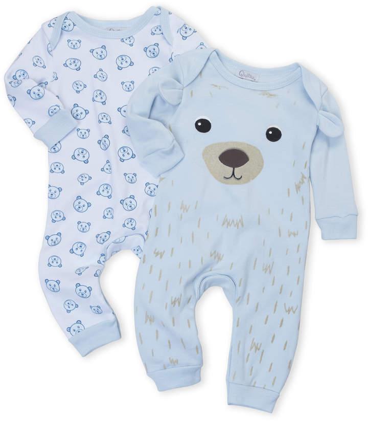 Quiltex (Newborn Boys) Two-Pack Bear Bodysuits