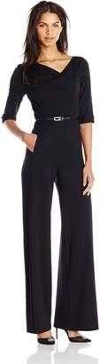 Black Halo Halo Women's 3/ Sleeve Jackie Jumpsuit