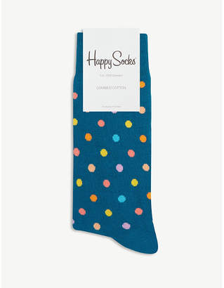 Happy Socks Polka dot cotton-blend socks