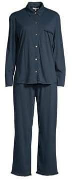 Skin Jemima Ruffled Two-Piece Pajama Set