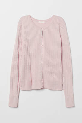 H&M Cable-knit Cardigan - Pink