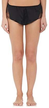 GILDA & PEARL Women's Gilda Lace-Trimmed Satin Shorts