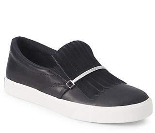 Lauren Ralph Lauren Reanna Slip-On Leather Sneakers