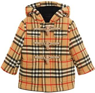 Burberry Vintage Check Wool Duffle Coat