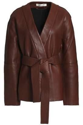 Diane von Furstenberg Belted Leather Jacket
