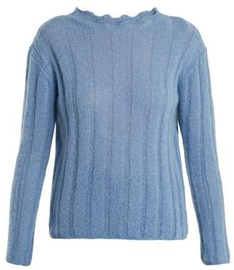 MiH Jeans Carolee Mohair Blend Sweater - Womens - Light Blue