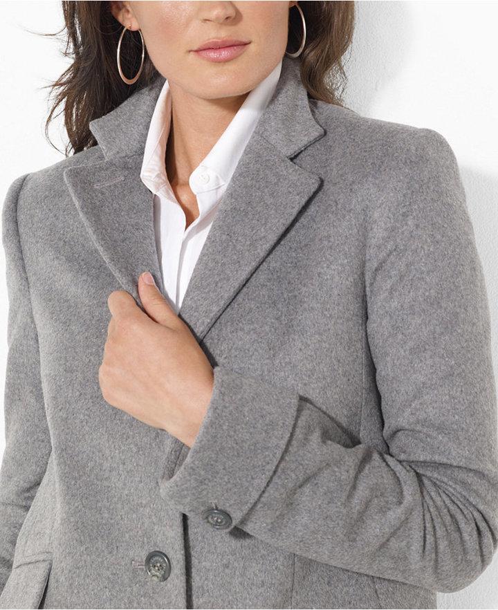 Lauren Ralph Lauren Single-Breasted Wool-Blend Walker Coat