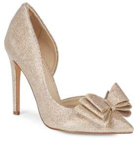 Betsey Johnson Metallic Textile D'Orsay Pumps