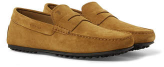 Tod's City Gommino Suede Penny Loafers - Men - Tan