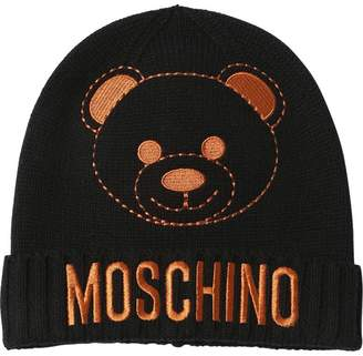 Moschino EMBROIDERED TOY KNITTED HAT