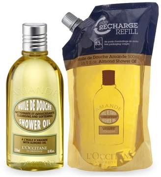 Almond Shower Oil Refill Duo