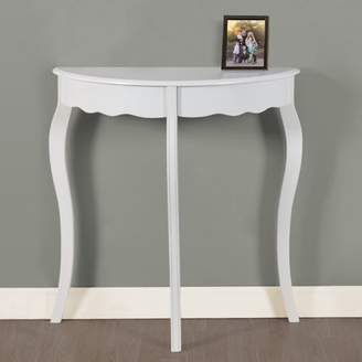 "Monarch Specialties Monarch Accent Table 31""L / Antique White Hall Console"