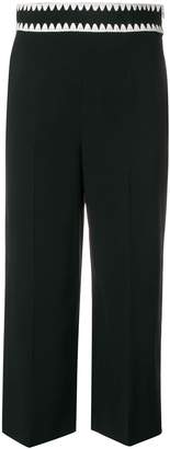 RED Valentino embroidered waistband cropped trousers