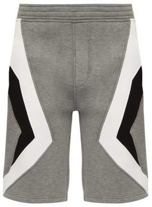 Neil Barrett Chevron Panelled Shorts - Mens - Black Multi