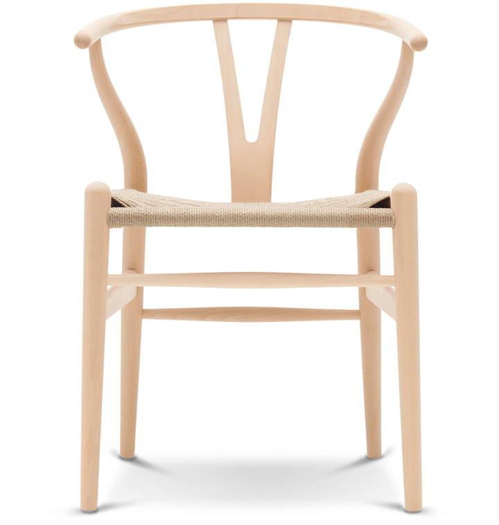 Carl Hansen - CH24 Wishbone Chair, Buche geseift / Naturgeflecht