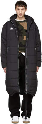 Gosha Rubchinskiy Black adidas Originals Edition Long Puffer Jacket