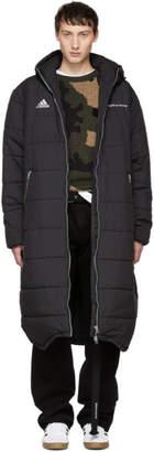 Gosha Rubchinskiy Black adidas Originals Edition Long Puffer Jacket