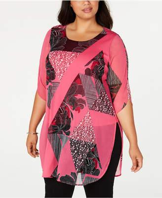 Alfani Plus Size Printed Tunic